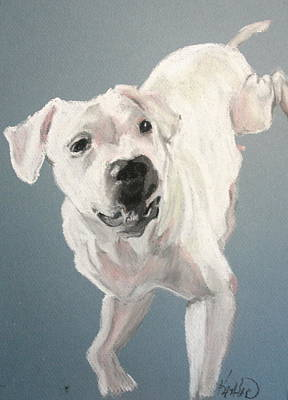 Pittie Painting - Cece by Kathleen Hartman