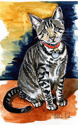 Painting - Ceci The Blind Kitten by Dora Hathazi Mendes