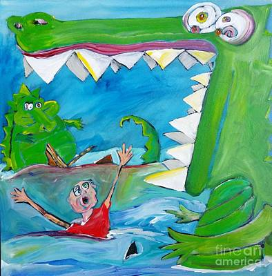Painting - Cecil And The Lizard by John Stillmunks