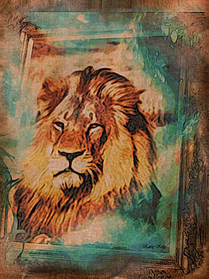 Art Print featuring the digital art Cecil The Lion by Kathy Kelly