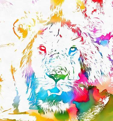 Tribute Mixed Media - Cecil The Lion Watercolor Tribute by Dan Sproul