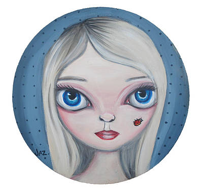 Pop Surrealism Painting - Cecilia And The Ladybug by Jaz Higgins