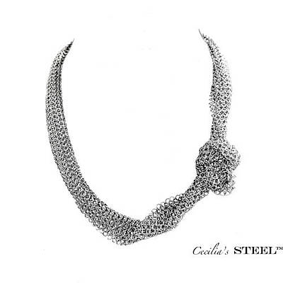 Cecilia's Steel Stand Out Necklace Original by Cecilia Taibo Rahban