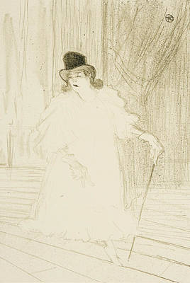 Theater Drawing - Cecy Loftus by Henri De Toulouse-Lautrec