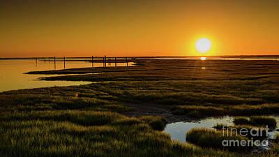 Photograph - Cedar Beach Golden Sunset by Alissa Beth Photography