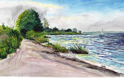 Painting - Cedar Beach Morning by Clara Sue Beym