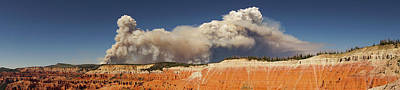 Photograph - Cedar Breaks National Monument Utah Wildfire Panorama by Lawrence S Richardson Jr