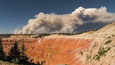 Photograph - Cedar Breaks National Monument Wildfire Ridge by Lawrence S Richardson Jr
