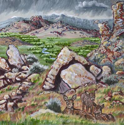 Painting - Cedar Breaks View With Mule Deer by Dawn Senior-Trask