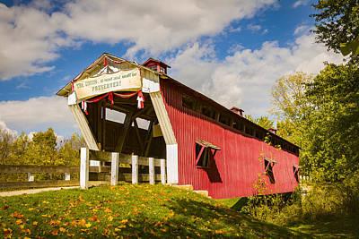 Photograph - Cedar Chapel Covered Bridge by Jack R Perry