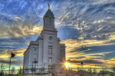 Photograph - Cedar City L D S Temple by Donna Kennedy