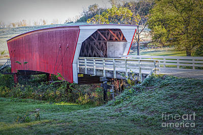 Photograph - Cedar Covered Bridge by Lynn Sprowl