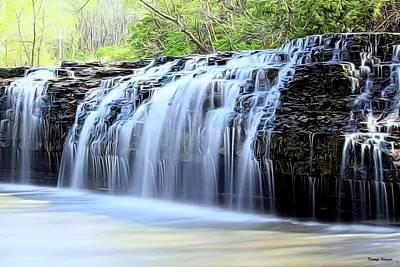 Painting - Cedar Creek Falls, Kansas by Wesley Nesbitt
