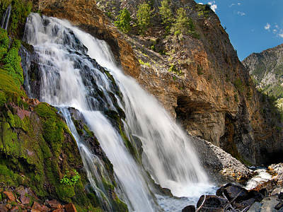 Lost River Mountains Photograph - Cedar Creek Falls by Leland D Howard