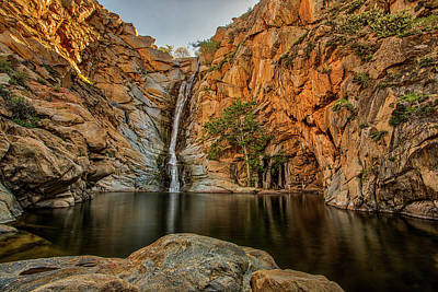 Photograph - Cedar Creek Falls Wide by Peter Tellone
