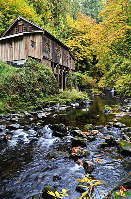 Photograph - Cedar Creek Grist Mill by Athena Mckinzie