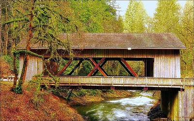 Cedar Creek Grist Mill Covered Bridge Art Print