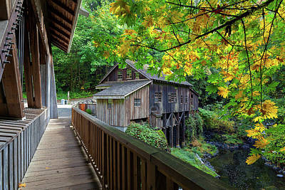 Photograph - Cedar Creek Grist Mill by David Gn