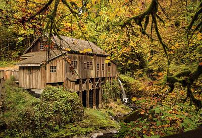 Photograph - Cedar Creek Grist Mill by Jean Noren