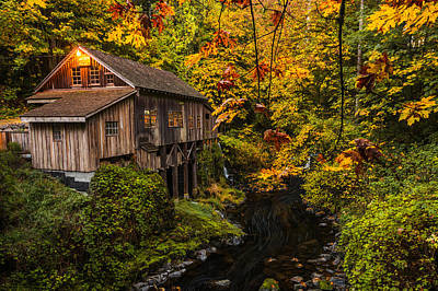 Photograph - Cedar Creek Mill by Dustin  LeFevre
