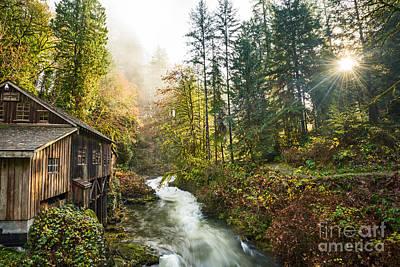 Grist Mill Photograph - Cedar Creek Mill Light by Jamie Pham