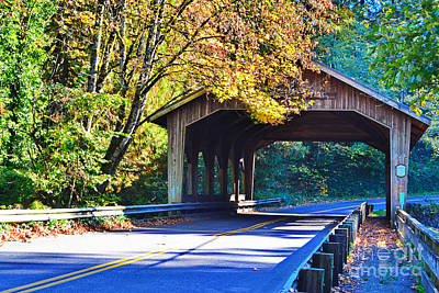 Photograph - Cedar Crossing Covered Bridge by Ansel Price