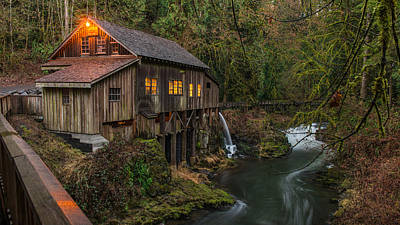 Photograph - Cedar Grist Mill by Rick Dunnuck