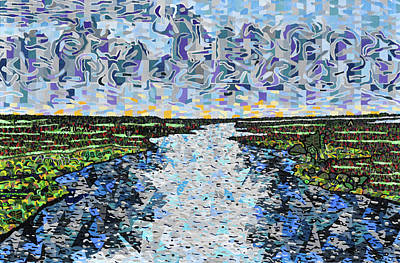 Abstract Seascape Painting - Cedar Island by Micah Mullen