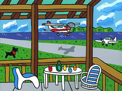 Painting - Cedar Key Airport by Mike Segal