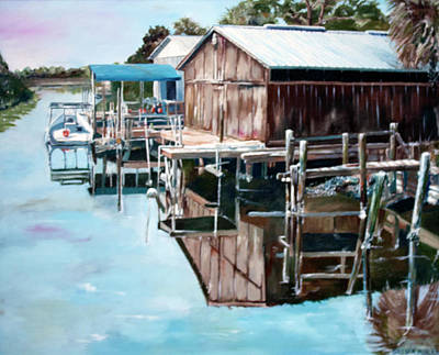 Cedar Key Reflections 2 Original by Greg Morris