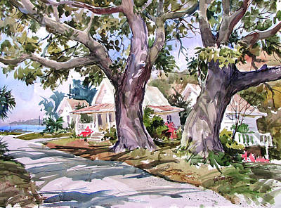 Cedar Key Survivors Original by Tony Van Hasselt