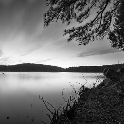 Photograph - Cedar Lake Bw 2 by Nathan Hillis