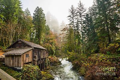 Grist Mill Photograph - Cedar Mill Classic by Jamie Pham