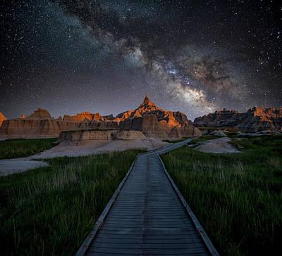 Cedar Pass Milky Way Art Print