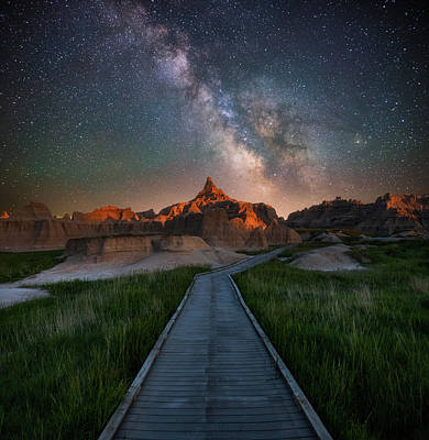 Photograph - Cedar Pass Night Walk by Darren White