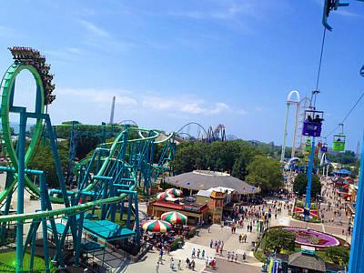Cedar Point Amusement Park Art Print