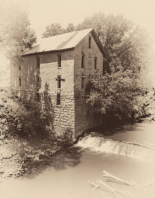 Photograph - Cedar Point Flour Mill Antiqued by James Barber