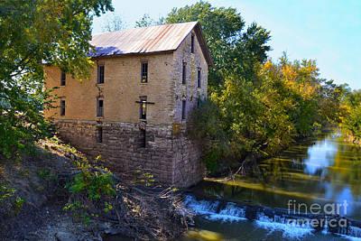 Flint Hills Of Kansas Photograph - Cedar Point Mill by Catherine Sherman