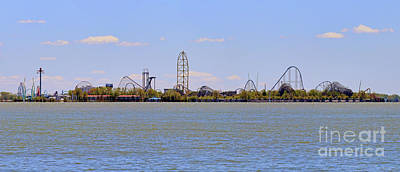 Photograph - Cedar Point Panorama1aaa by Jack Schultz
