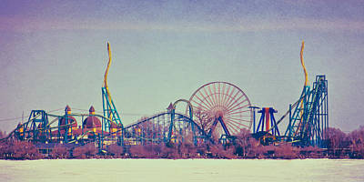 Cedar Point Skyline Art Print