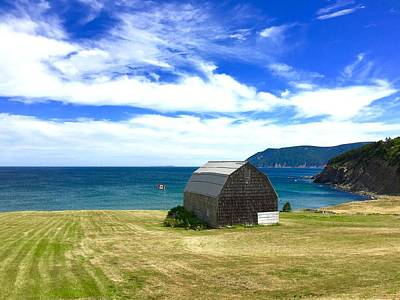 Photograph - Cedar Shingles Barn By The Ocean by Cristina Stefan