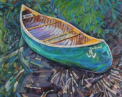 Beaver Lake Painting - Cedar Strip by Phil Chadwick