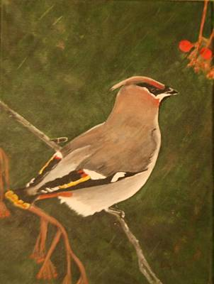 Painting - Cedar Waxwing by Betty-Anne McDonald