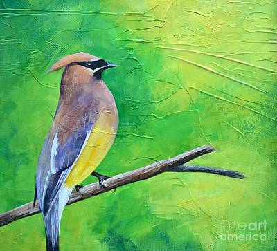 Painting - Cedar Waxwing by Lisa Dionne