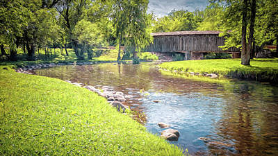 Photograph - Cedarburg Covered Bridge by Susan Rissi Tregoning