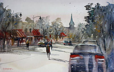 Streetscape Painting - Cedarburg - Impressions Of Summer by Ryan Radke