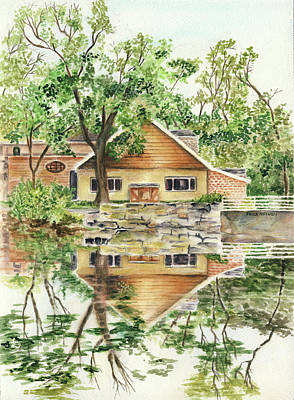 Painting - Cedarburg, Wisconsin Pond View by Paula Nathan
