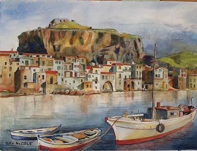 Southie Wall Art - Painting - Cefalu, Sicily by Dan McCole
