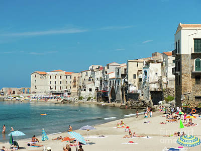 Photograph - Cefalu Town Beach by Rod Jones
