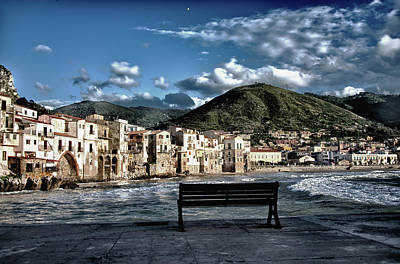 Photograph - Cefalu With Sea Bench by Patrick Boening